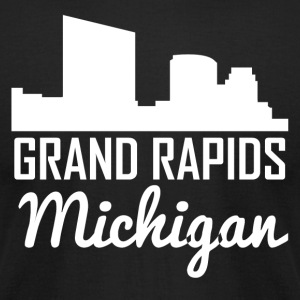 Grand Rapids Michigan Skyline - Men's T-Shirt by American Apparel