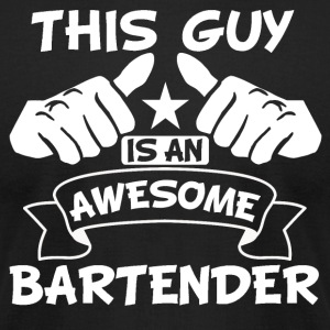 This Guy Is An Awesome Bartender - Men's T-Shirt by American Apparel