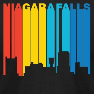 Retro 1970's Style Niagara Falls New York Skyline - Men's T-Shirt by American Apparel