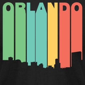 Retro 1970's Style Orlando Florida Skyline - Men's T-Shirt by American Apparel
