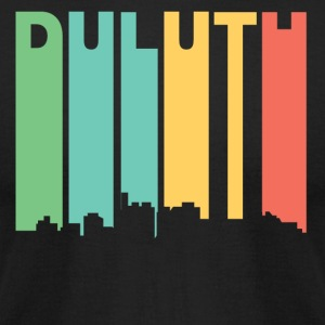 Retro 1970's Style Duluth Minnesota Skyline - Men's T-Shirt by American Apparel