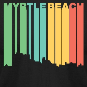 Retro 1970's Style Myrtle Beach SC Skyline - Men's T-Shirt by American Apparel
