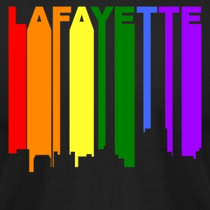 Lafayette Louisiana Gay Pride Rainbow Skyline - Men's T-Shirt by American Apparel