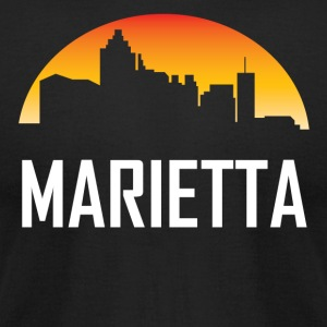 Marietta Georgia Sunset Skyline - Men's T-Shirt by American Apparel
