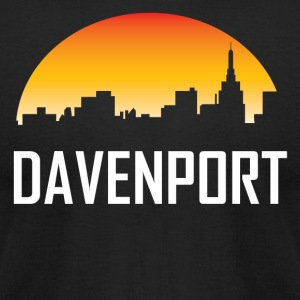 Davenport Iowa Sunset Skyline - Men's T-Shirt by American Apparel