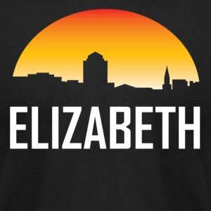 Elizabeth New Jersey Sunset Skyline - Men's T-Shirt by American Apparel