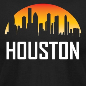 Houston Texas Sunset Skyline - Men's T-Shirt by American Apparel