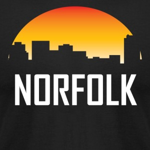 Norfolk Virginia Sunset Skyline - Men's T-Shirt by American Apparel