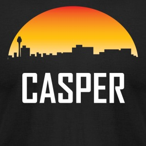 Casper Wyoming Sunset Skyline - Men's T-Shirt by American Apparel
