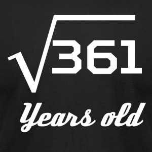 Square Root Of 361 19 Years Old - Men's T-Shirt by American Apparel