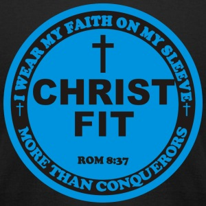 Round Christ Fit label - Men's T-Shirt by American Apparel