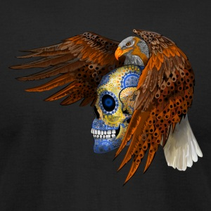 indian native eagle sugar Skull - Men's T-Shirt by American Apparel