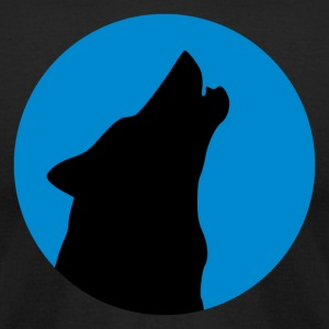 Wolf Howling - Men's T-Shirt by American Apparel