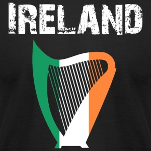 Nation-Design Ireland Harp - Men's T-Shirt by American Apparel