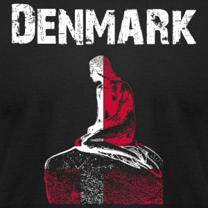 Nation-Design Denmark Mermaid - Men's T-Shirt by American Apparel