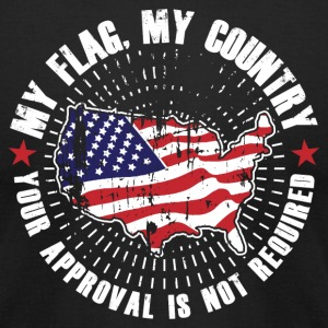 My Flag MyCountry! USA Patriot - Men's T-Shirt by American Apparel