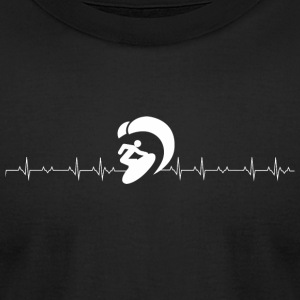Kitesurf - Kite Surfing Heartbeat - Kitesurf - Men's T-Shirt by American Apparel
