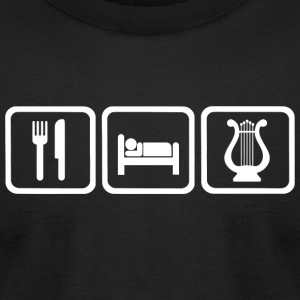 Lyre - Funny Eat Sleep Lyre Repeat - Men's T-Shirt by American Apparel