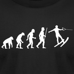Skiing - Funny Evolution of Water Skiing - Men's T-Shirt by American Apparel