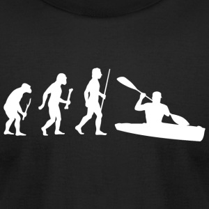 Kayaking - Evolution of Man and Kayaking - Men's T-Shirt by American Apparel