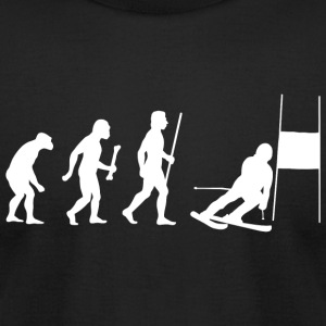 Skiing - Funny Slalom Skiing Evolution Shirt - Men's T-Shirt by American Apparel
