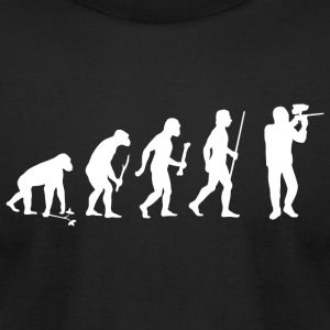 Paintball - Evolution of Paintball - Men's T-Shirt by American Apparel