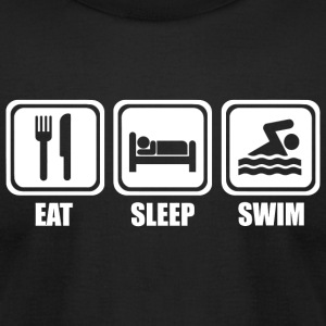 Swimming - Eat Sleep Swimming - Men's T-Shirt by American Apparel