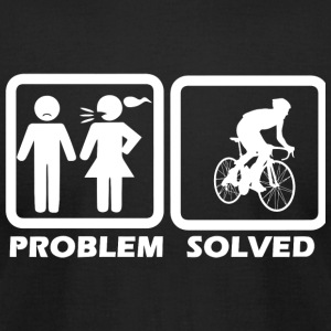 Cycling - Cycling Solved My Problem - Men's T-Shirt by American Apparel