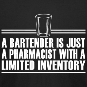 BARTENDER - A BARTENDER IS JUST A PHARMACIST WIT - Men's T-Shirt by American Apparel