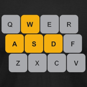 PC Gaming - WASD Keyboard PC Gaming Shirt - Men's T-Shirt by American Apparel
