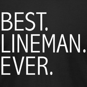Lineman - Best Lineman Ever Funny power line tec - Men's T-Shirt by American Apparel