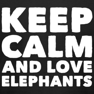 Elephant - Keep Calm and Love Elephants - Men's T-Shirt by American Apparel
