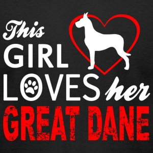 Dane - this girl loves her great dane - Men's T-Shirt by American Apparel