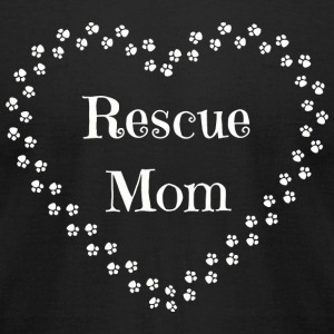 Rescue Mom - Rescue Mom-Dog and Cat Rescue Tee - Men's T-Shirt by American Apparel