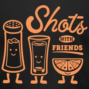 Shot - Shots With Friends - Men's T-Shirt by American Apparel