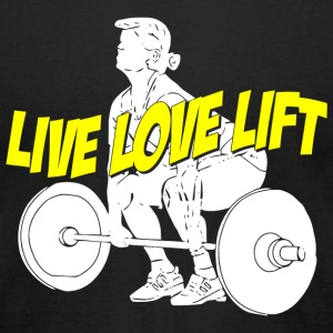 Lift - live love lift - Men's T-Shirt by American Apparel