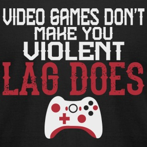 Video Game - Video Games Don't Make You Violent - Men's T-Shirt by American Apparel