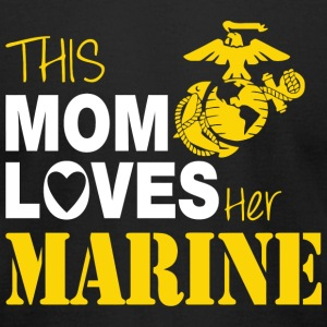 Marine - This Mom Loves Her Marine - Men's T-Shirt by American Apparel
