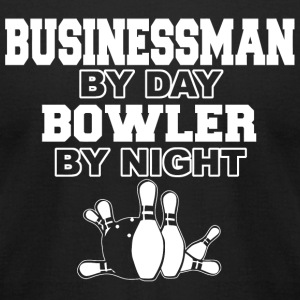 Bowling - businessman by day bowler by night - Men's T-Shirt by American Apparel