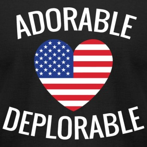 Military - Adorable Deplorable - Men's T-Shirt by American Apparel