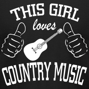 Country music - this girl loves country music - Men's T-Shirt by American Apparel