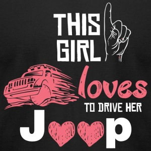 Jeep - this girl loves to drive her jeep - Men's T-Shirt by American Apparel