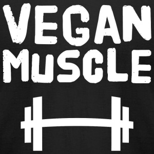 - Vegan Muscle - Men's T-Shirt by American Apparel