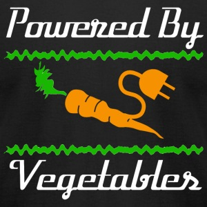 Vegan - Cool Unique Powered By Vegetables T-Shir - Men's T-Shirt by American Apparel