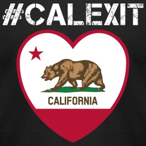 California - #CALEXIT Hashtag Shirt - Men's T-Shirt by American Apparel