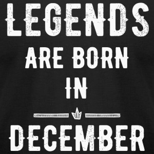 December - Legends are born in December - Men's T-Shirt by American Apparel