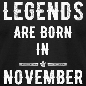 November - Legends are born in November - Men's T-Shirt by American Apparel