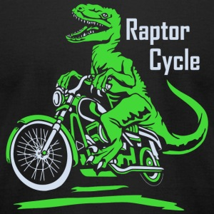 Raptor Raptor Cycle - Men's T-Shirt by American Apparel