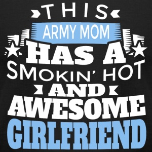 ARMY MOM - THIS ARMY MOM HAS A SMOKIN' HOT AND A - Men's T-Shirt by American Apparel