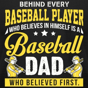 Baseball Dad - Baseball Dad T Shirt - Men's T-Shirt by American Apparel